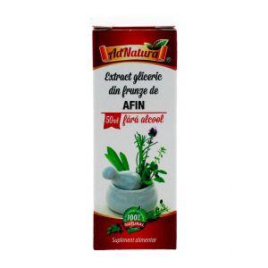 AdNatura Afin-extract gliceric din frunze de Afin 50 ml fara alcool