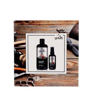 Got2B Caseta barbati:Sampon pentru par si barba+Ulei pentru ingrijirea barbii 250+75 ml Phenomenal