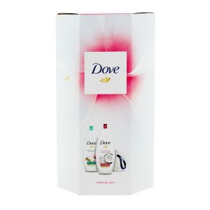 Dove Caseta femei:2xGel de dus+burete de baie 2x250 ml Relaxing Care