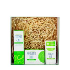 Schmidt's Caseta:Pasta de dinti+Stick+Sapun 133+75+142 g Bergamot & Lime