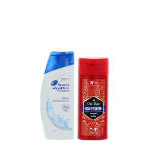 PROMO! Head & Shoulders Sampon 90 ml Classic + Old Spice Gel de dus 50 ml 2in1 Captain