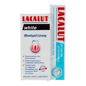 Lacalut Apa de gura White 300 ml+ Pasta de dinti 75 ml