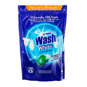 At Home Detergent Capsule 18 buc White