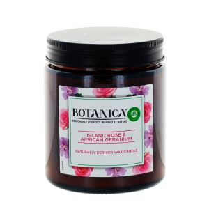 Airwick (Botanica) Lumanare odorizanta 205 g Island Rose&African Geranium