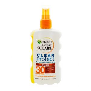 Garnier Ambre Solaire Spray transparent pentru protectie solara 200 ml SPF 30 Bronze