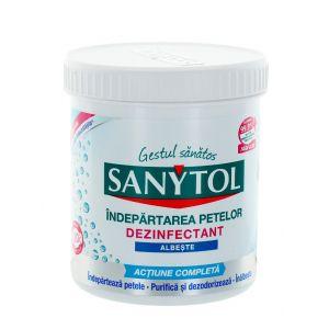 Sanytol Pudra dezinfectanta pentru indepartarea petelor 450 g Albe