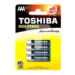 Toshiba Baterii R3 ALK High Power 4 buc